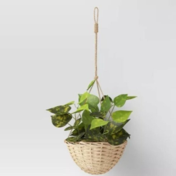 Willow Woven Base Hanging Planter Threshold NEW